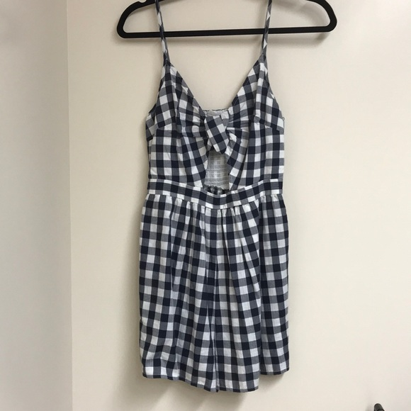 291eb2da0e45 American Eagle Outfitters Other - WORN ONCE navy and white checker romper